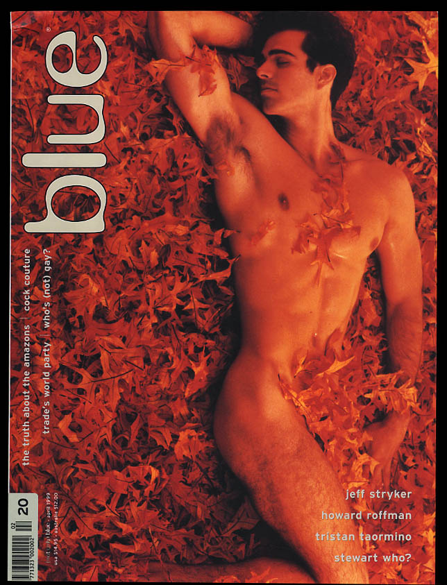 NOT ONLY BLUE Gay male erotica #20 4 1999 Jeff Stryker Roffman Taormino +