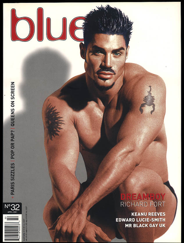 NOT ONLY BLUE Gay male erotica #32 4 2001 Richard Fort Keanu Reeves Lucie-Smith