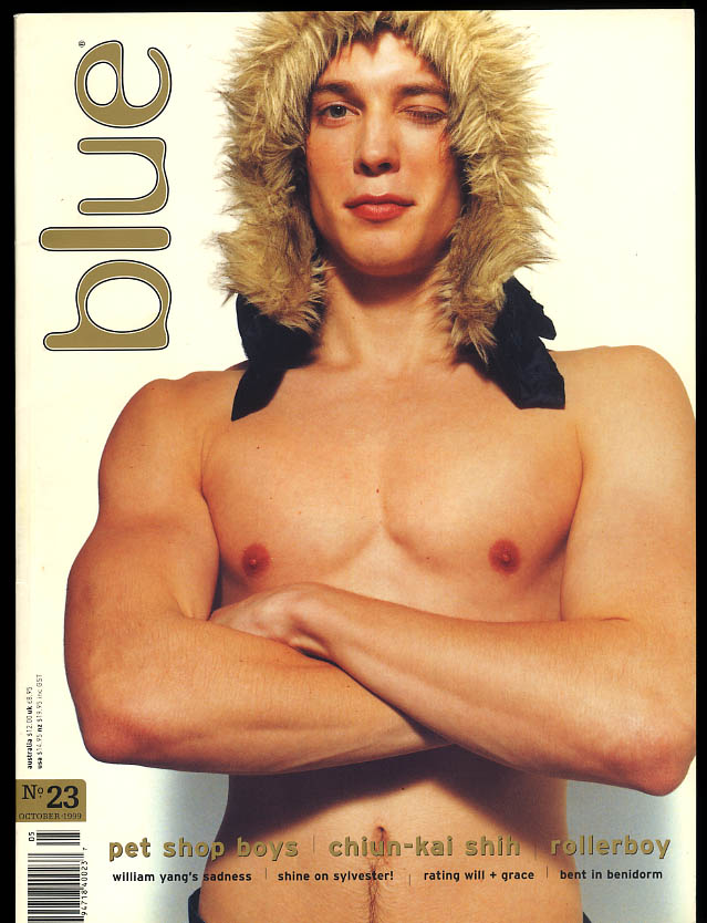 NOT ONLY BLUE Gay male erotica #23 10 1999 Chiun-Kai Shih Rollerboy William Yang