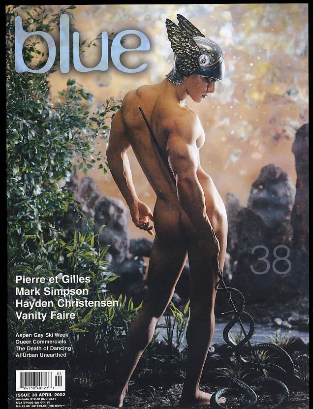NOT ONLY BLUE Gay male erotica #38 4 2002 Pierre & Gilles Hayden Christensen +