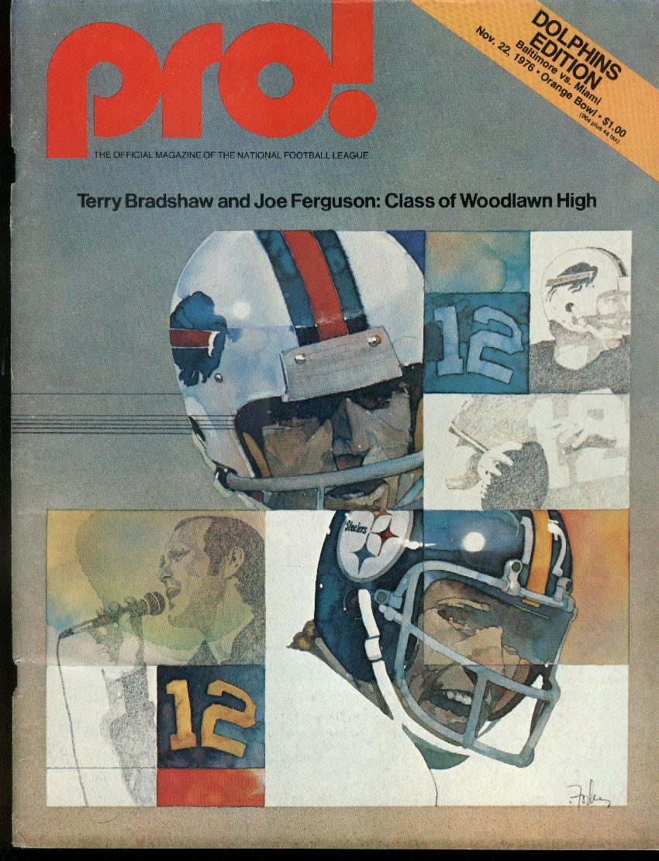 NFL PRO! Baltimore Colts at Miami Dolphins 11/22 1976 Bradshaw & Ferguson