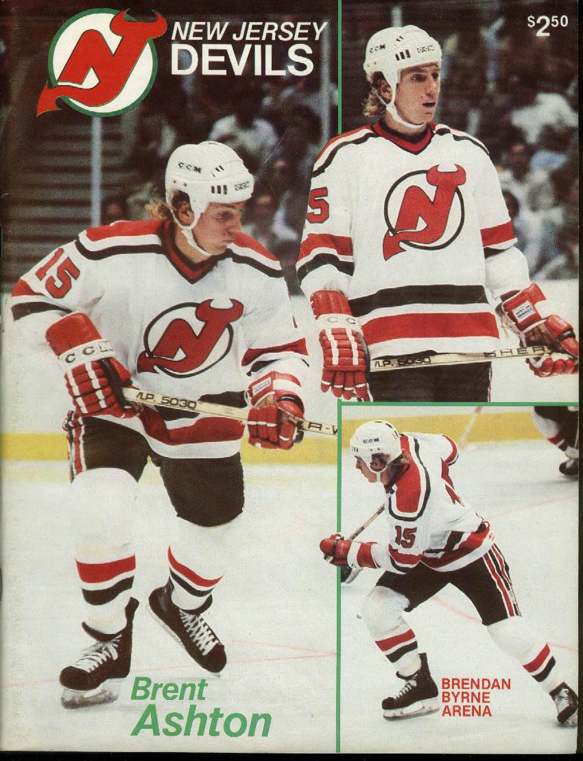 Chicago Blackhawks at New Jersey Devils Game Program 11/29 1982 Brent Ashton