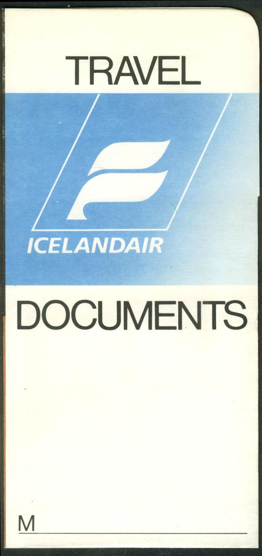 Icelandair Travel Documents airline ticket wrapper wallet unused
