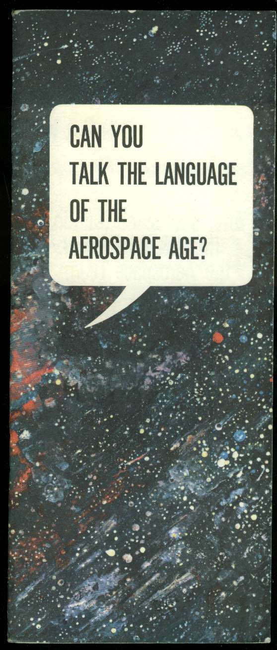 U S Air Force Can You Talk the Language of the Aerospace Age? Booklet 1964