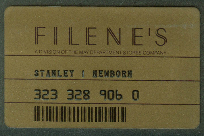 Filene's Department Store obsolete credit card 1970s