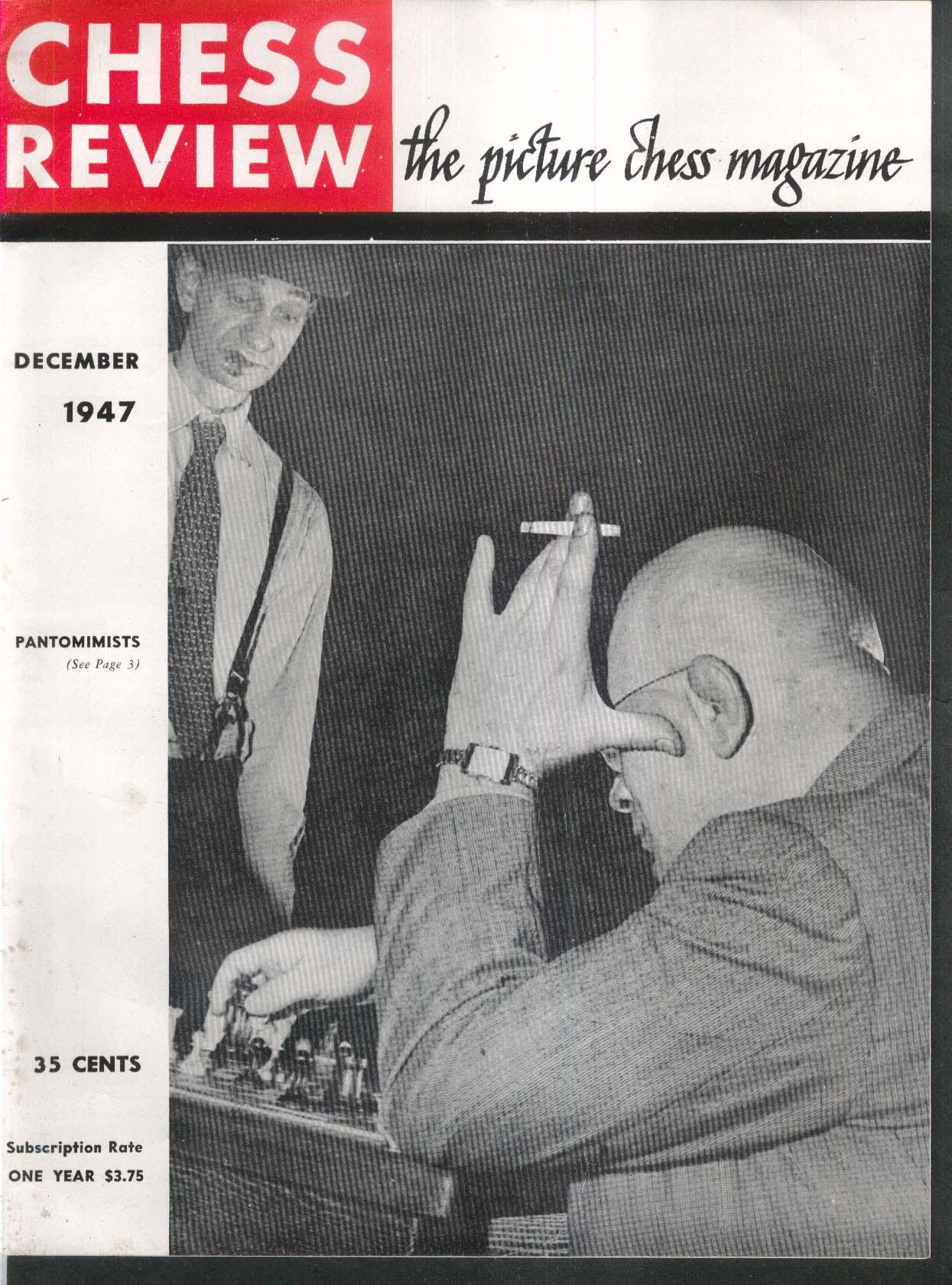 CHESS REVIEW Sammy Reshevsky Isaac Kashdan Reuben Fine Herman Steiner 12 1947