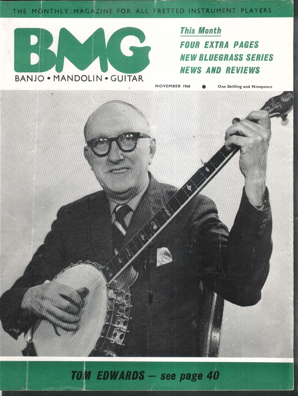 BMG BANJO MANDOLIN GUITAR Tom Edwards ++ 11 1968