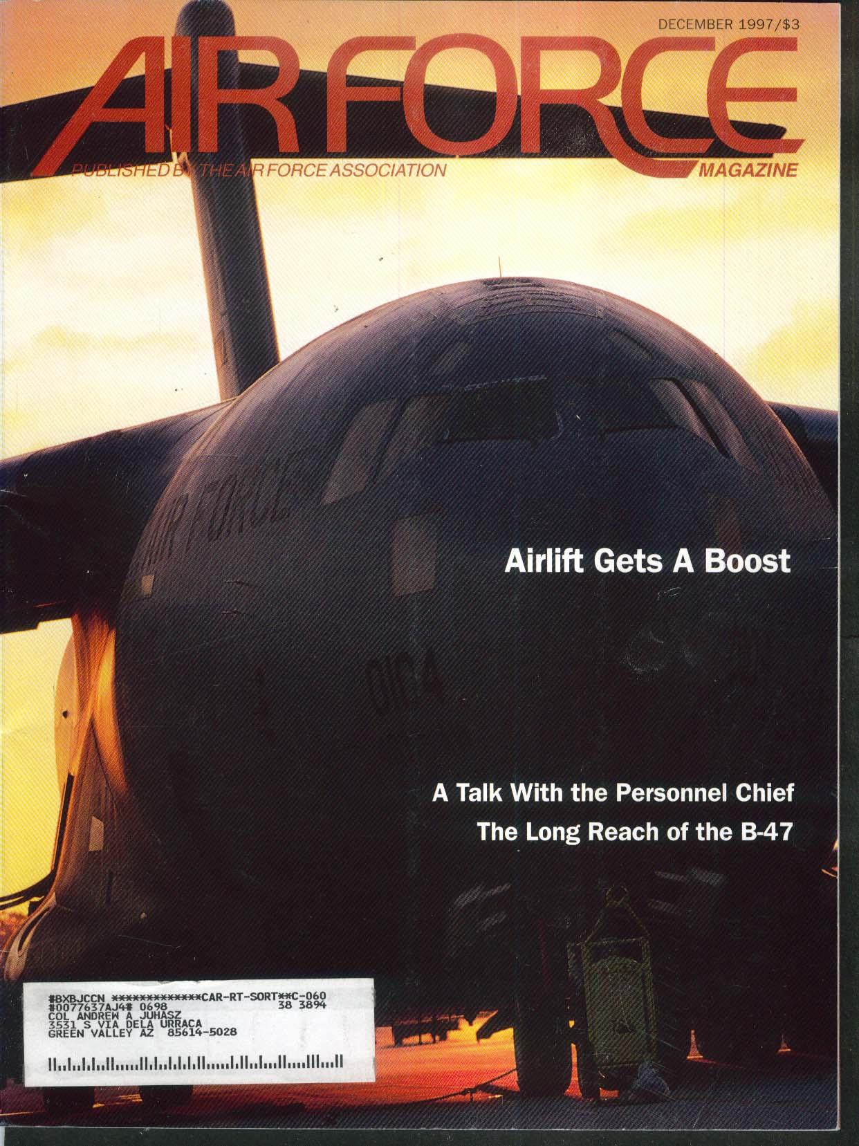 AIR FORCE Nimitz in Gulf B-47 C-17 Hill AFB History NATO F-86 12 1997