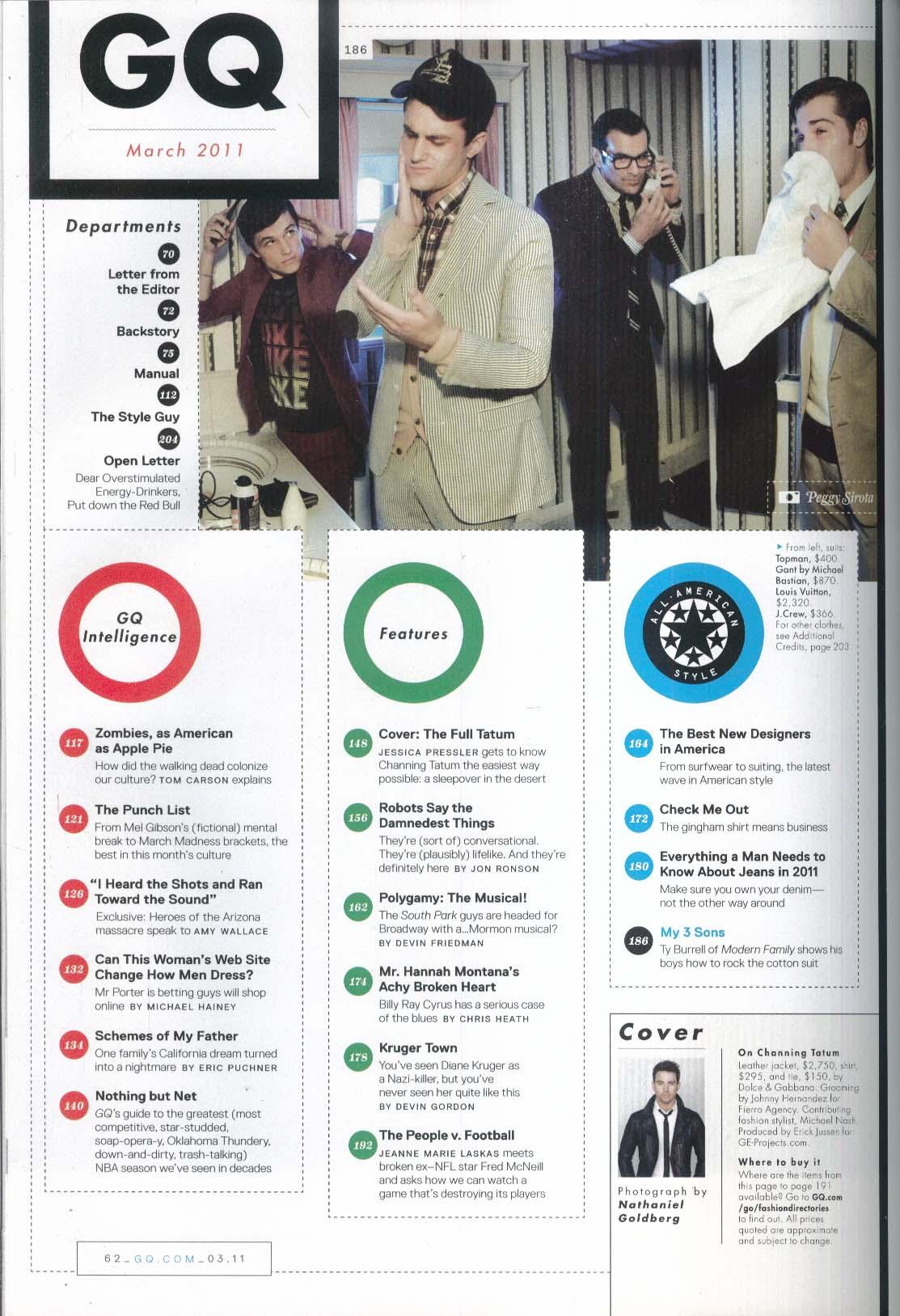 GQ Channing Tatum Billy Ray Cyrus Book of Mormon Gabby Giffords 3 2011