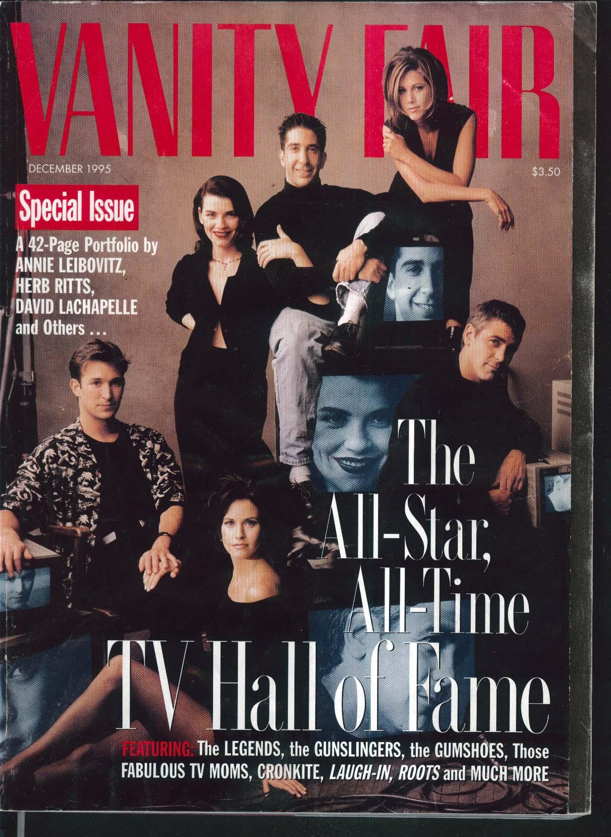 VANITY FAIR Leibovitz LaChapelle Clooney Aniston Cox Fishburne Scorsese 12 1995