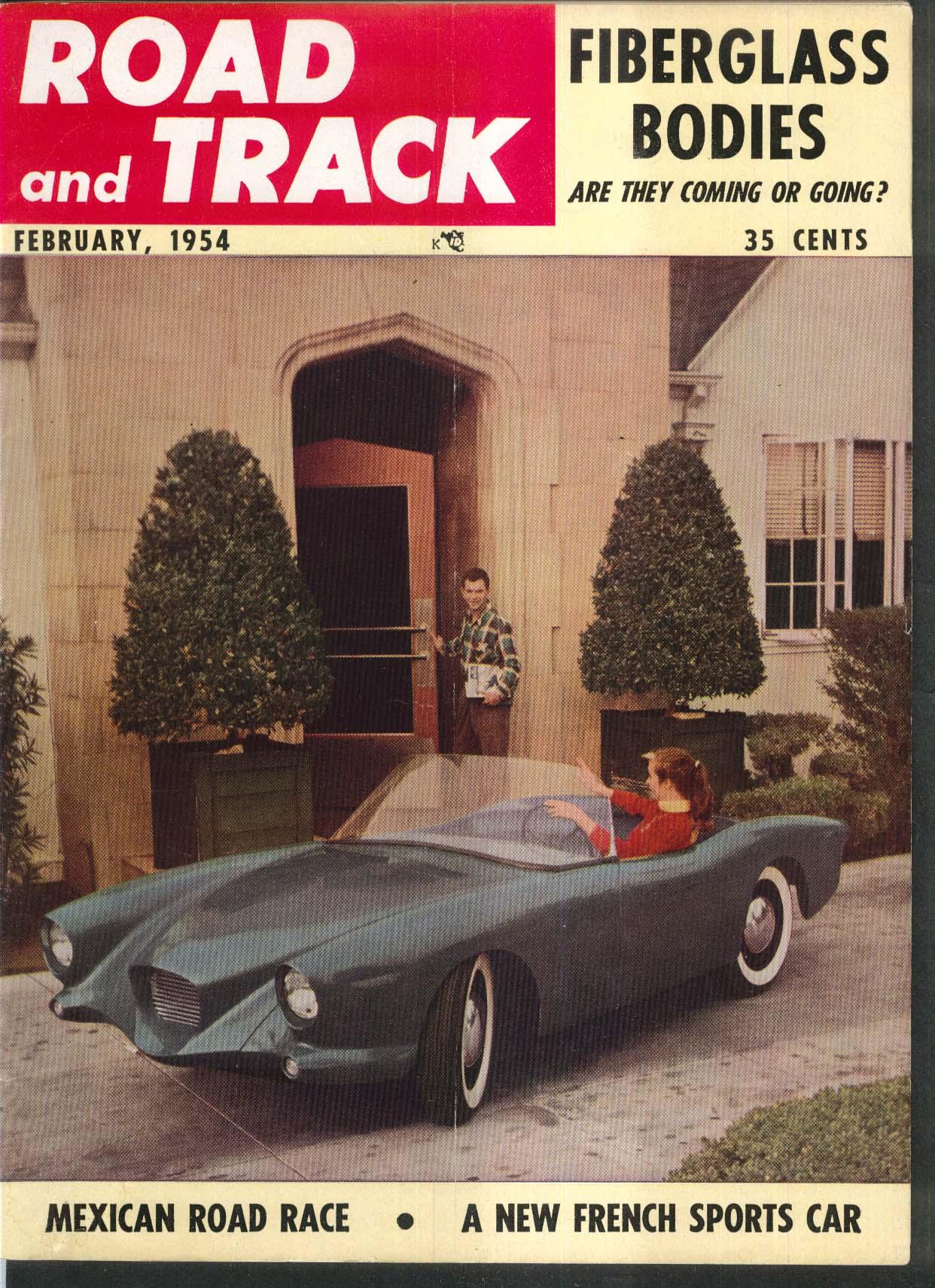 ROAD & TRACK Dyna Panhard road test; Triumph Doretti Fiberglass ++ 2 1954