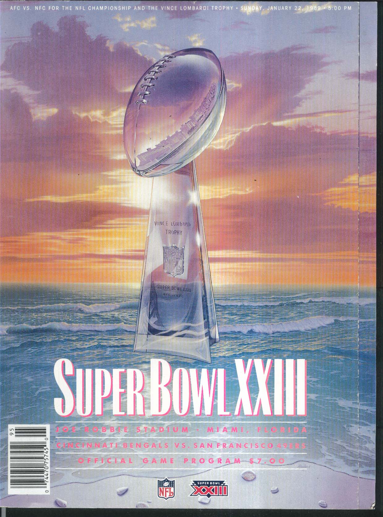 SUPER BOWL XXIII Official Game Program 1989 Bengals v 49ers