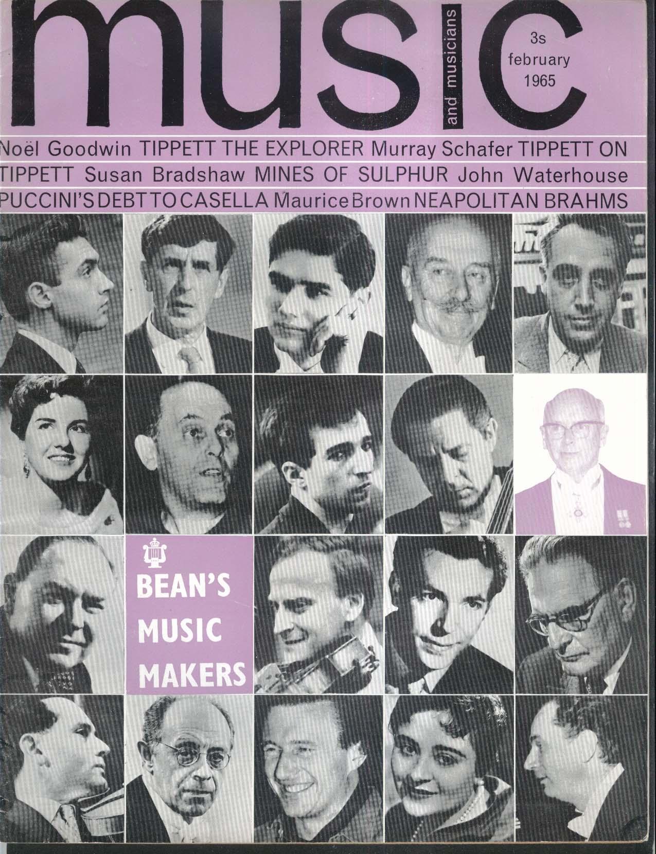 MUSIC & MUSICIANS Ernest Bean Richard Rodney Bennett Tito Gobbi ++ 2 1965