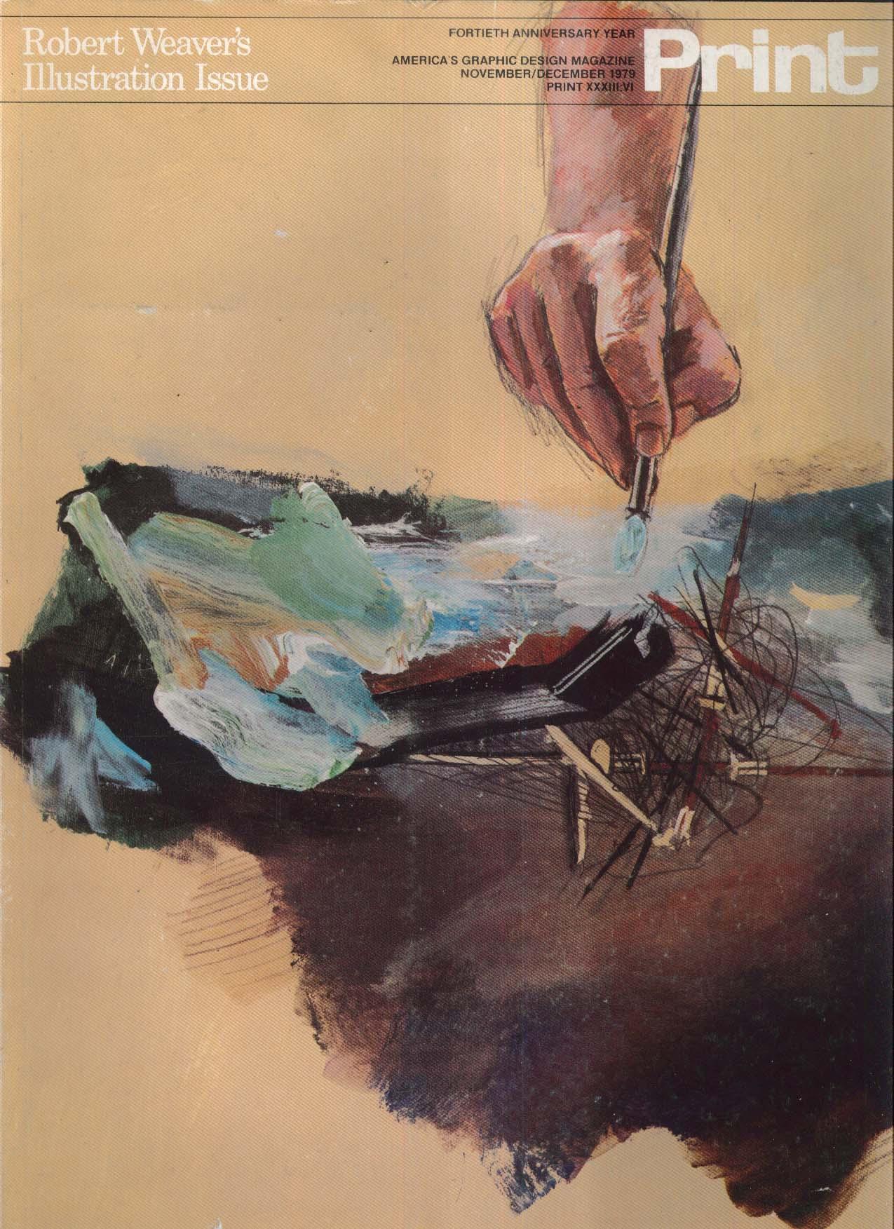 PRINT Robert Weaver Ralph Steadman Milton Glaser ++ 11-12 1979