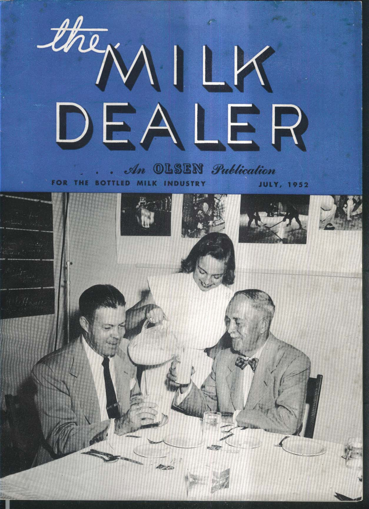 MILK DEALER Automatic Vending Machines Oregon State College Mexico City + 7 1952