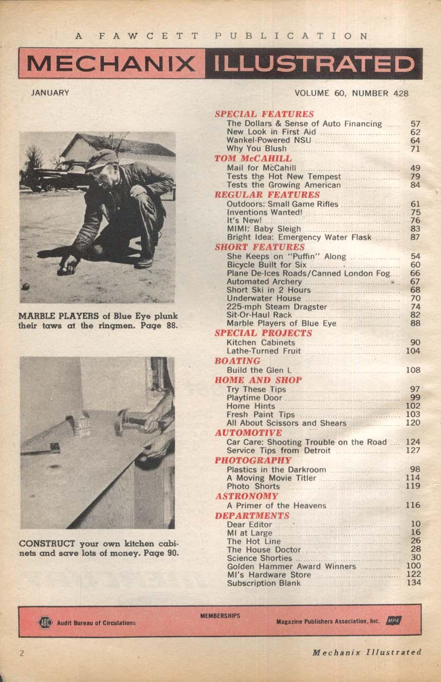 MECHANIX ILLUSTRATED Pontiac Tempest Rambler American road tests 1 1964