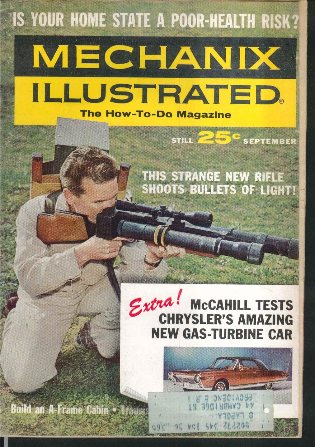 MECHANIX ILLUSTRATED Chrysler Gas Turbine road test Laser Rangefinder 9 1963