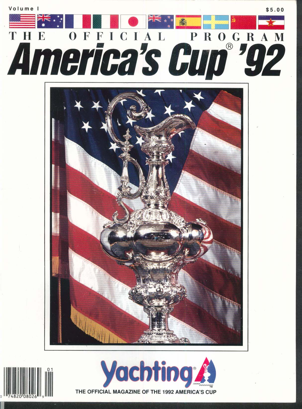 YACHTING America's Cup 1992 Official Program Bill Koch ++