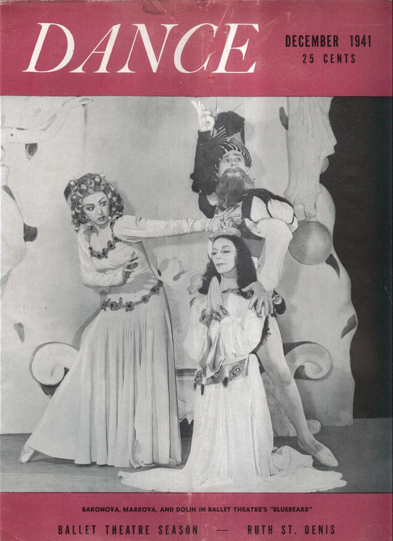 DANCE Baronova Markova Dolin Bluebeard Ballet 12 1941