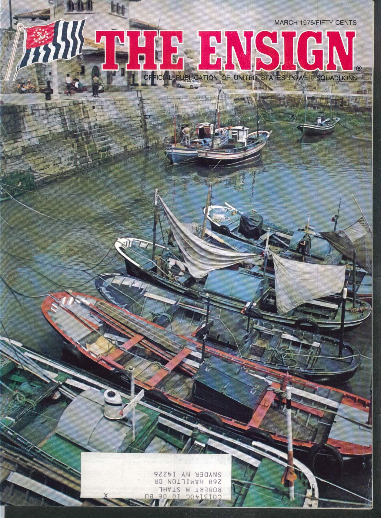 The ENSIGN Florida Keys Rudder Horizontal Angles Back Sights + 3 1975