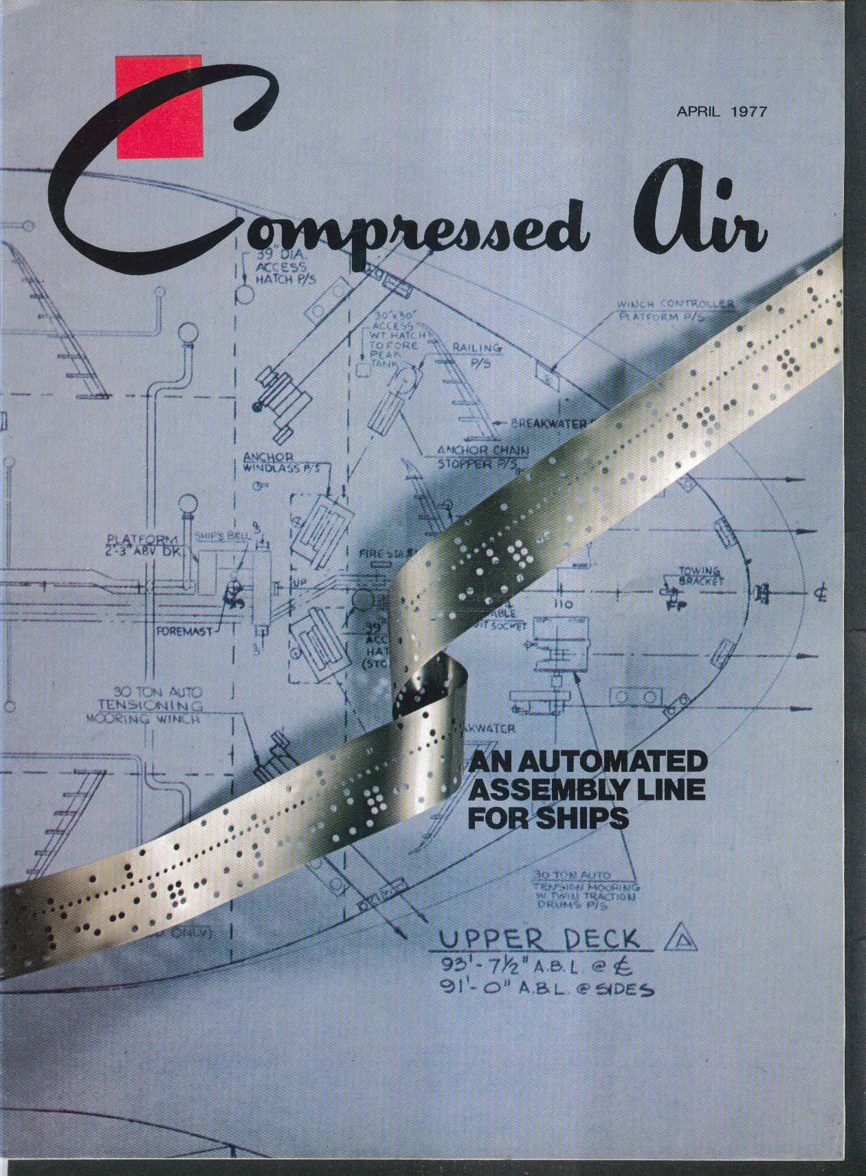 COMPRESSED AIR Automated Assembly Line for Ships ++ 4 1977