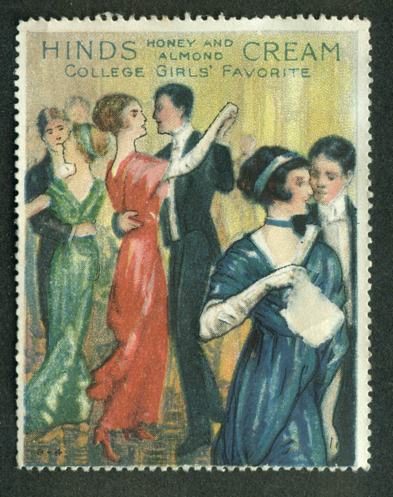 Hinds Honey & Almond Cream College Girls Favorite cinderella stamp dance 1910s