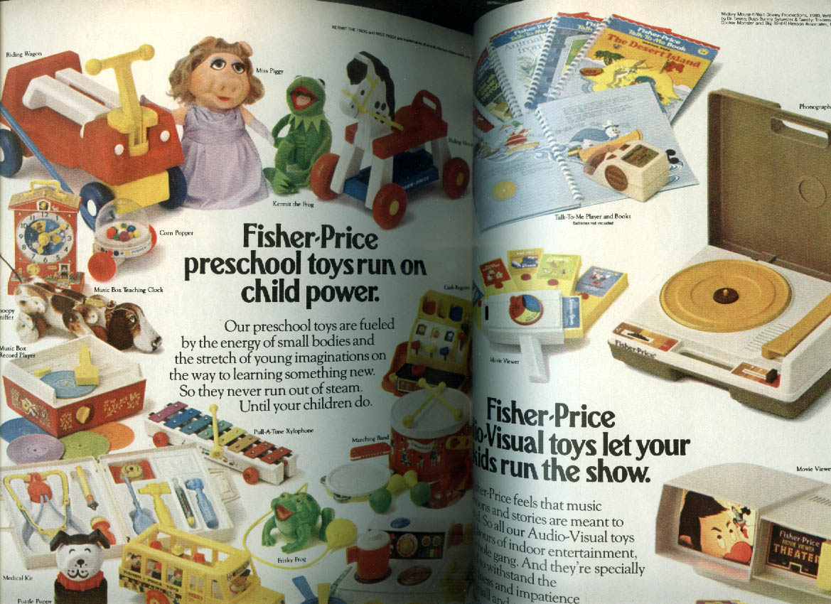 Fisher-Price Celebrates 50 Years of Childhood Memories catalog ad insert 1980