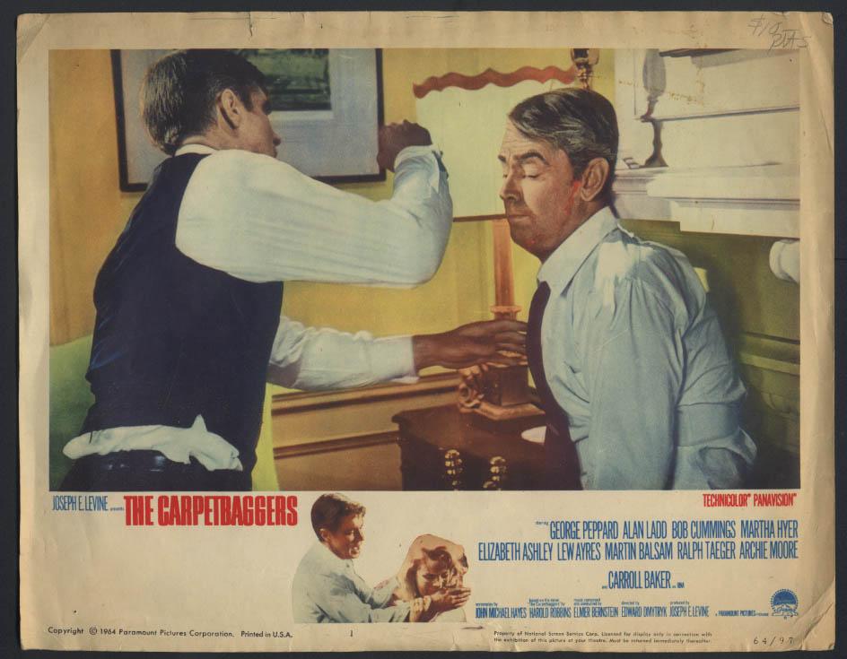 George Peppard Alan Ladd The Carpetbaggers movie lobby card 1964