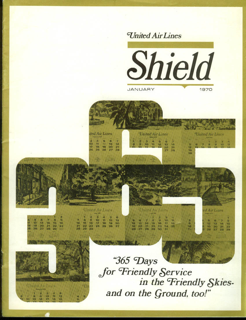 United Air Lines SHIELD airline employee news 1 1970 747 coming Tokyo bid; Killy