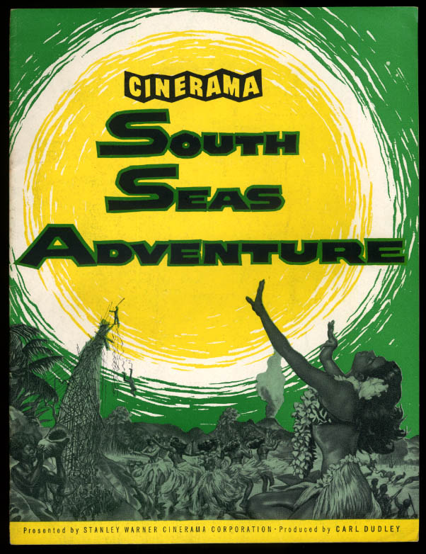 Cinerama South Seas Adventure souvenir film movie program 1958
