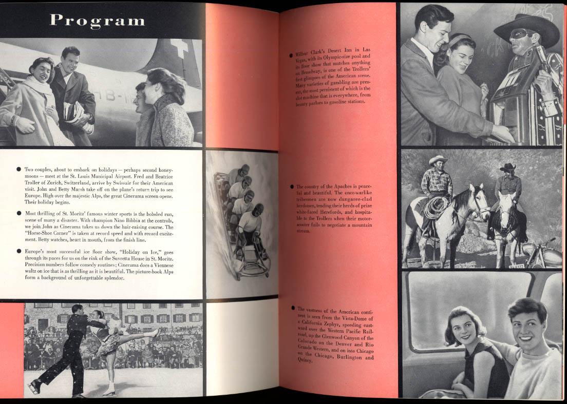 Cinerama Holiday souvenir film movie program 1955