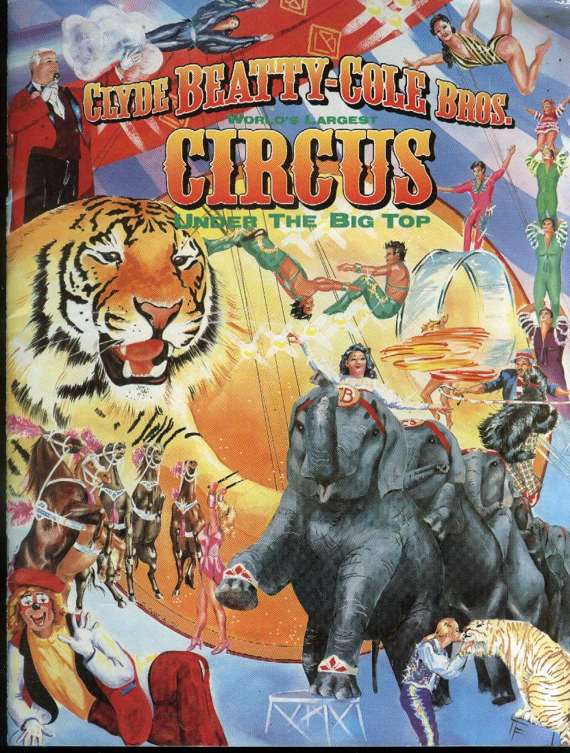 Clyde Beatty-Cole Bros Circus program 1997 Coca-Cola ad