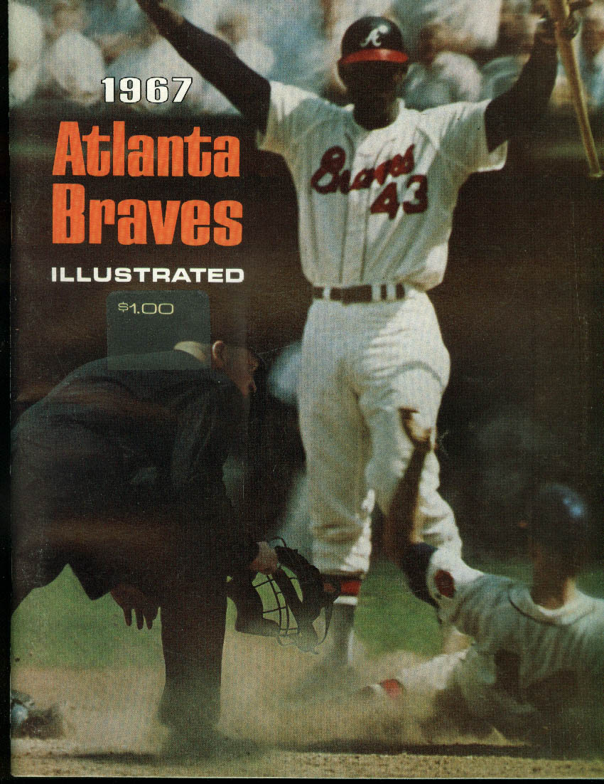 Atlanta Braves Illustrated Baseball Yearbook 1967 Aaron Torre Alou Niekro