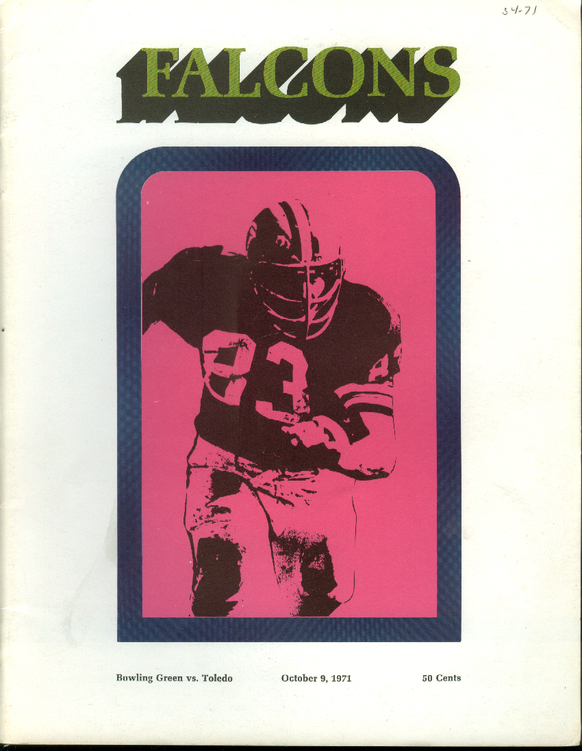Toledo at Bowling Green University College Football Program 1971