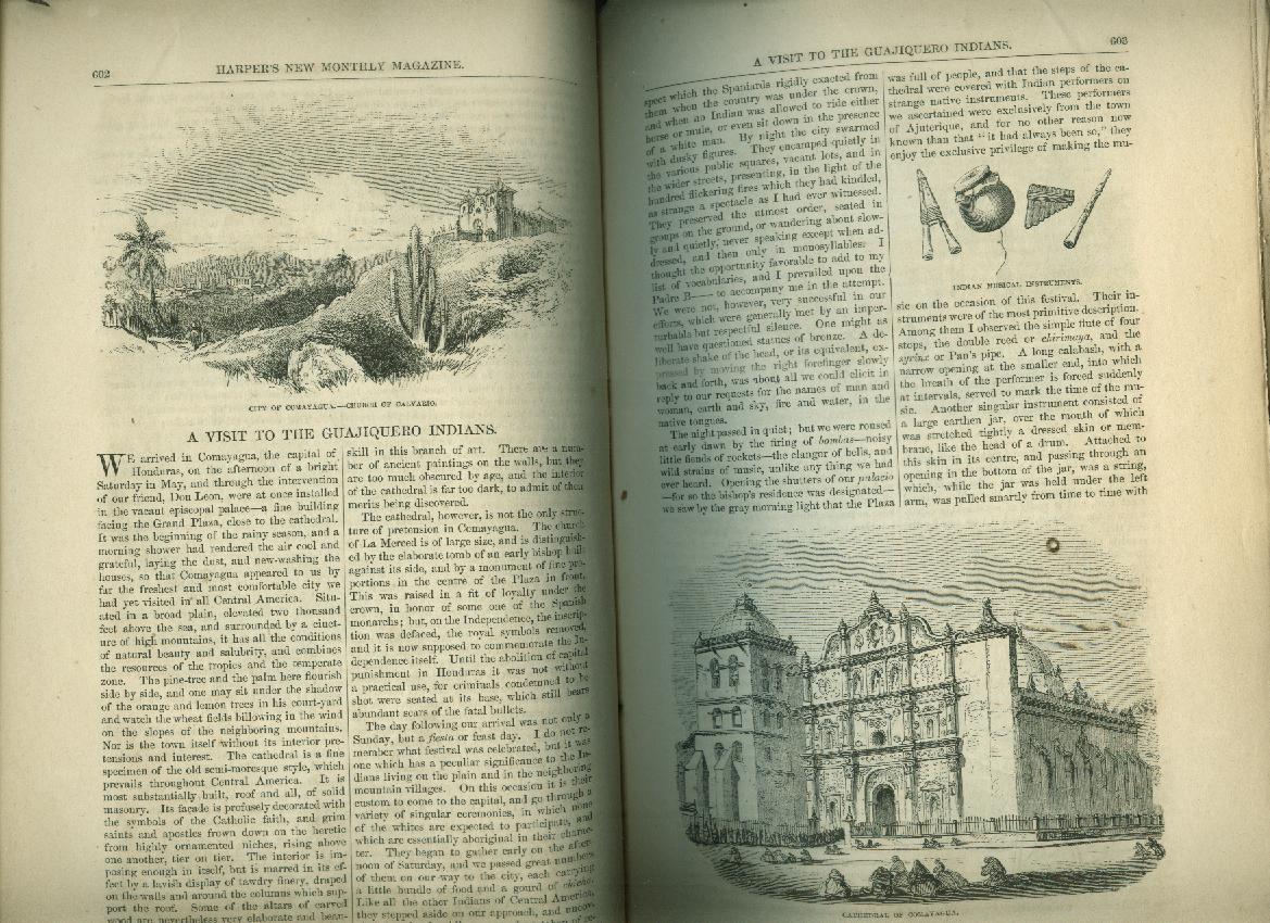 HARPER'S 10 1859 Thackeray's The Virginians Daniel Boone Guajiquero Indians