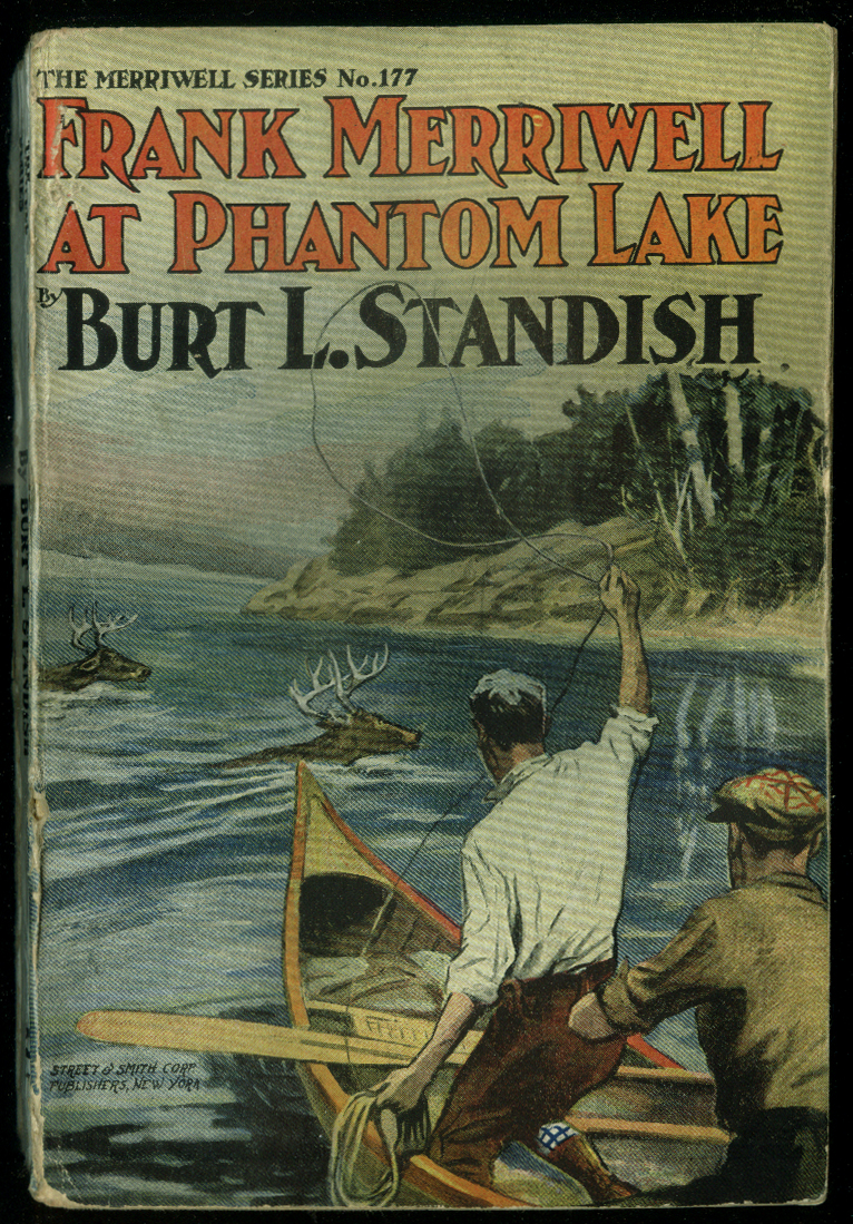 Frank Merriwell at Phantom Lake Burt L Standish pulp novel 1909 rope deer canoe