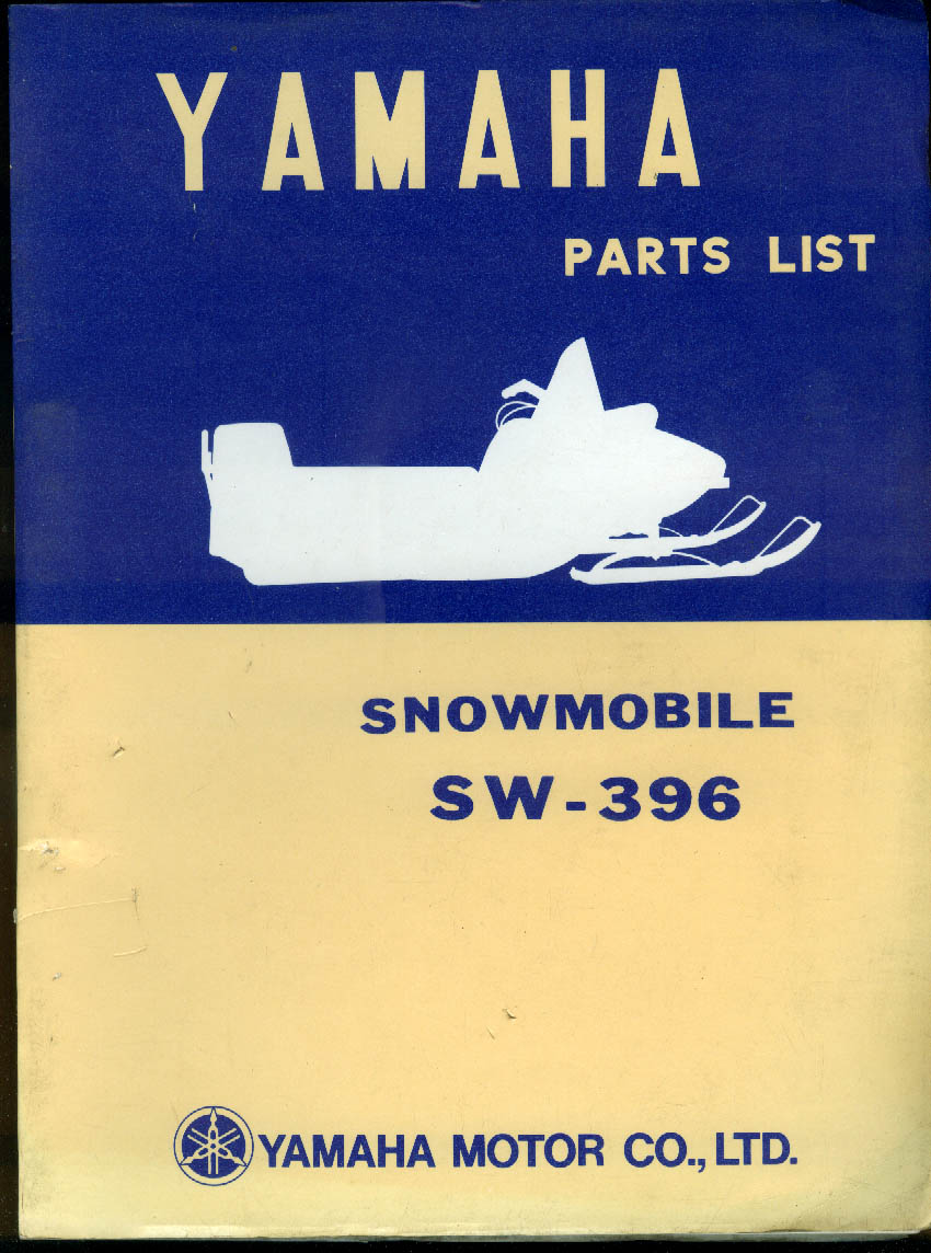 Yamaha Snowmobile SW-396 Parts List 1970s