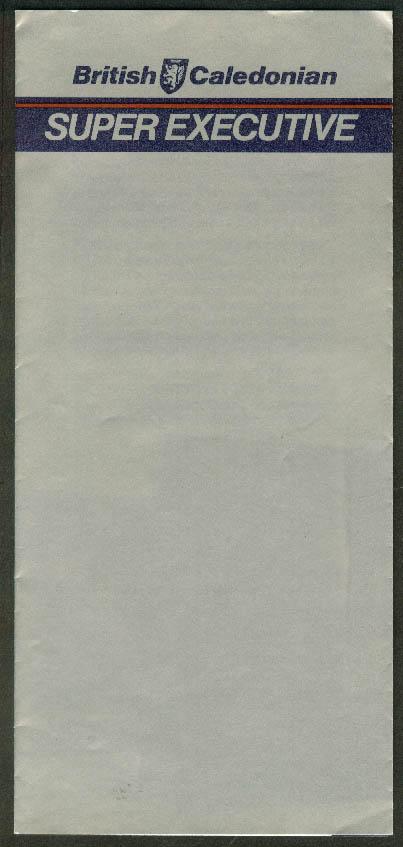 British Caledonian Super Executive airline folder 1983