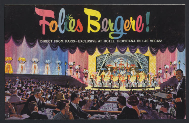 Folies Bergere Direct from Paris Hotel Tropicana Las Vegas mailer program 1962