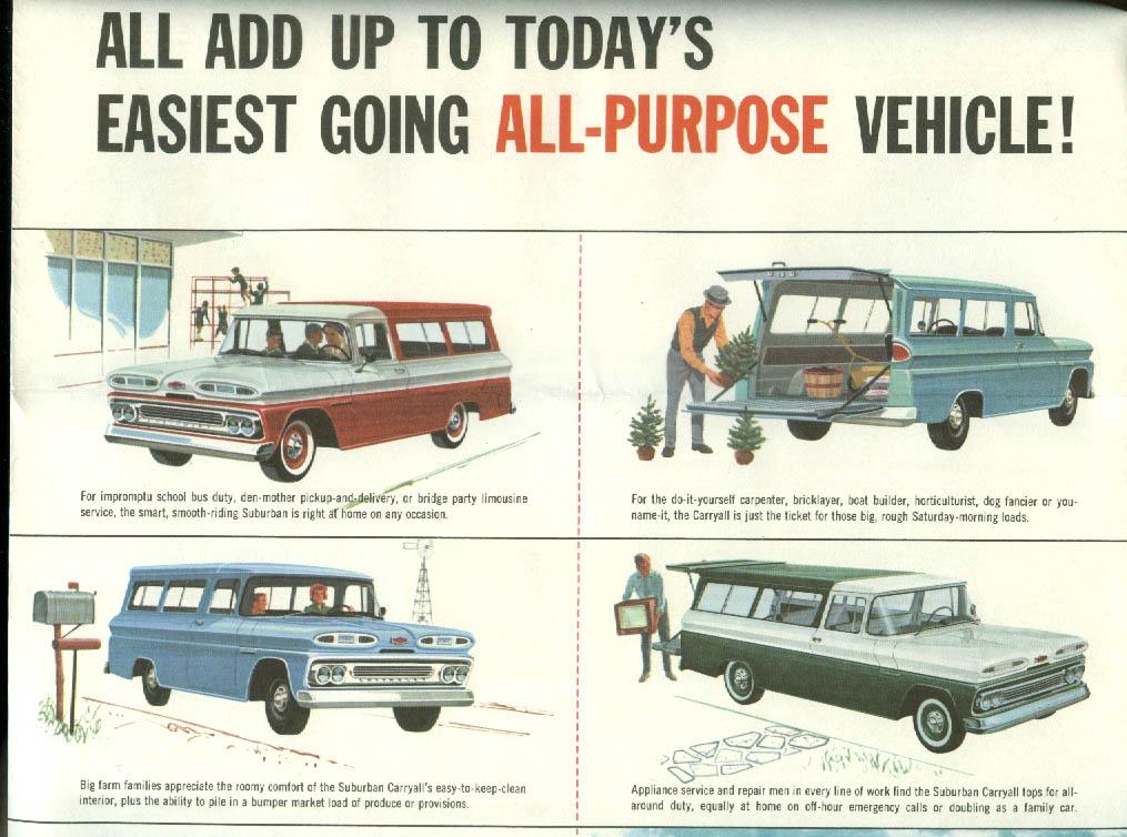 1960 Chevrolet Suburban Carryalls sales brochure folder