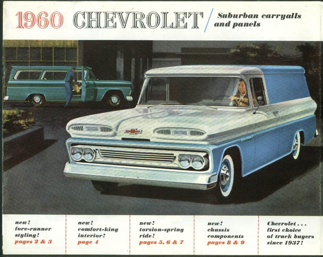 1960 Chevrolet Suburban Carryalls & Panel Trucks sales brochure