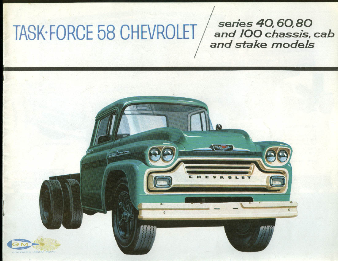 1958 Chevrolet Series 40 60 80 100 Chassis Cab & Stake Trucks brochure