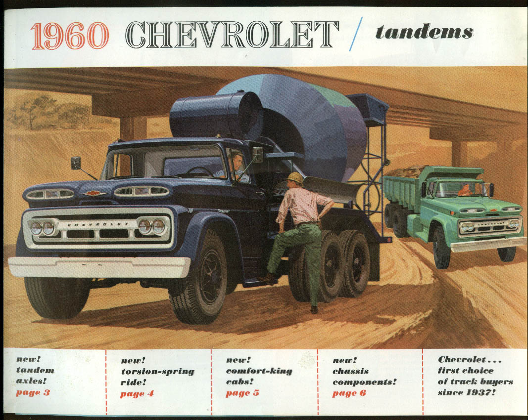 1960 Chevrolet Tandem Truck sales brochure Series M70