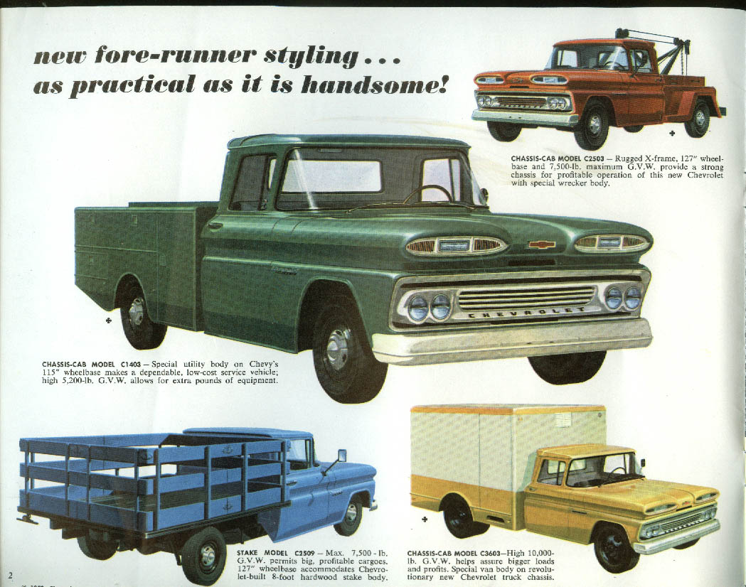 1960 Chevrolet Series 10 20 30 40 Chassis-Cab & Stake Truck brochure