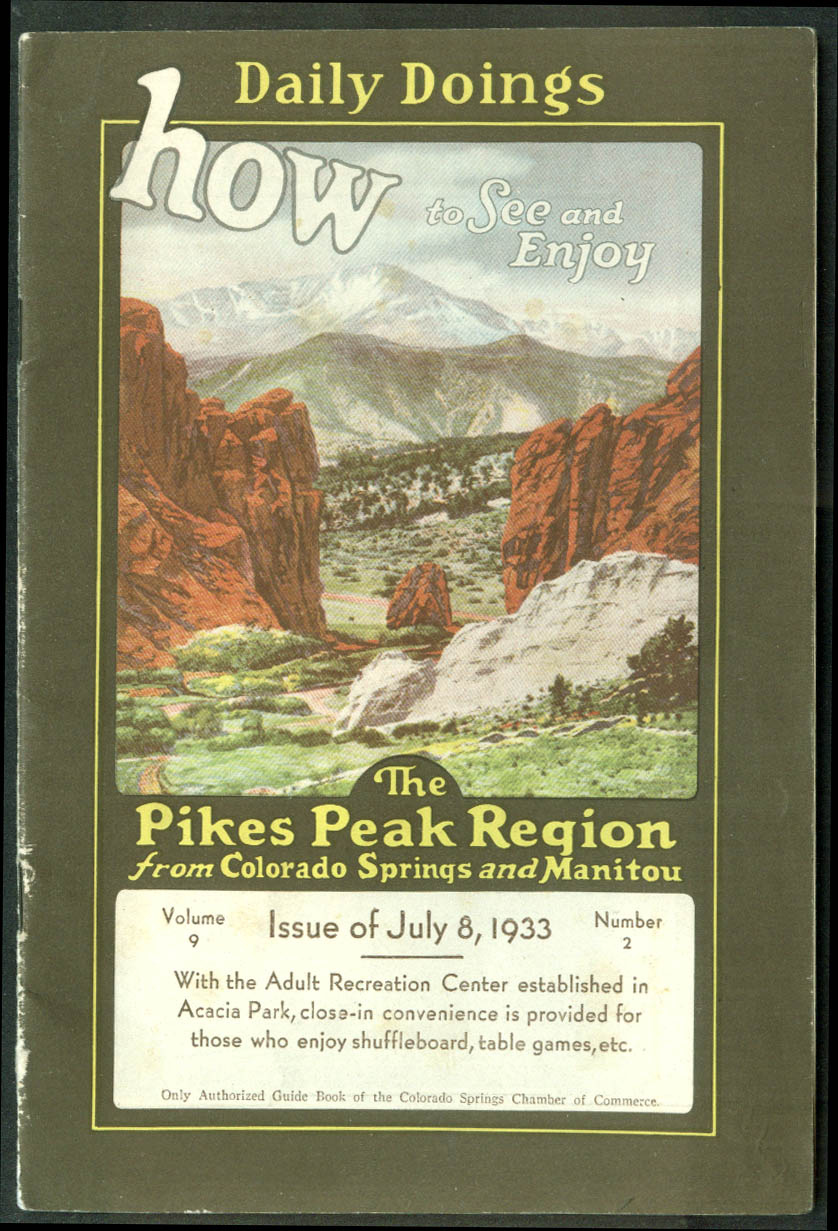 Pikes Peak Region Daily Doings 7/8 1933 magazine