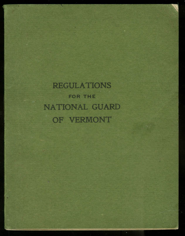 Regulations for the National Guard of Vermont 1897