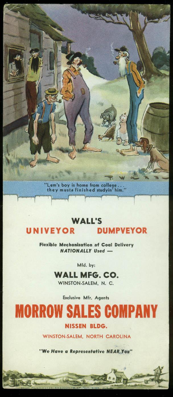 Paul Webb Mountain Boys blotter Wall's Univeyor Dumpveyor Winston-Salem NC