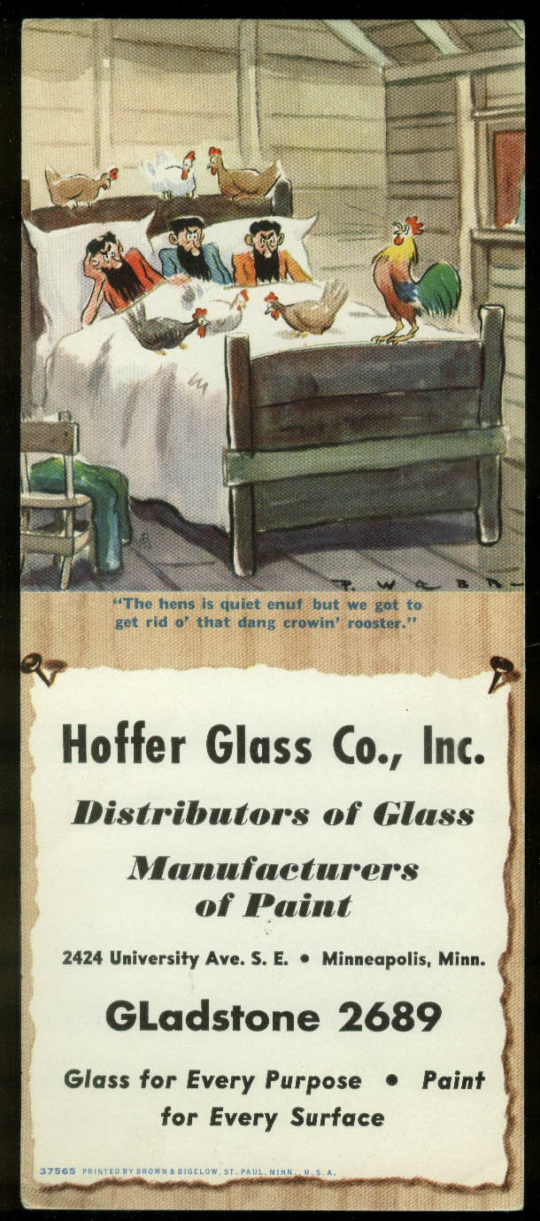 Paul Webb Mountain Boys blotter Hoffer Glass & Paint Minneapolis MN