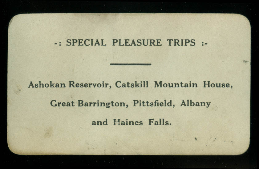 M A Haines Taxi Service Catskill NY business card ca 1920s