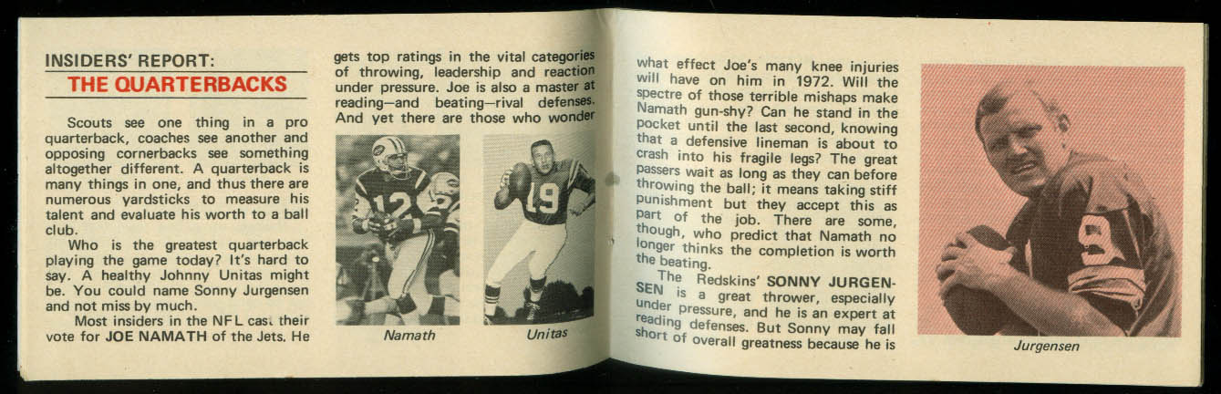 Aqua Velva Lectric Shave Behind the Scenes in Pro Football booklet 1972